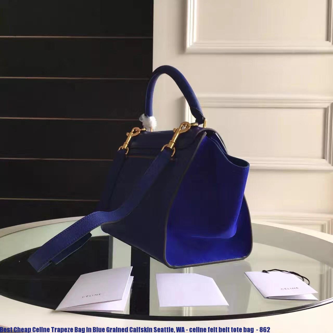 49916b20a1 Best Cheap Celine Trapeze Bag In Blue Grained Calfskin Seattle