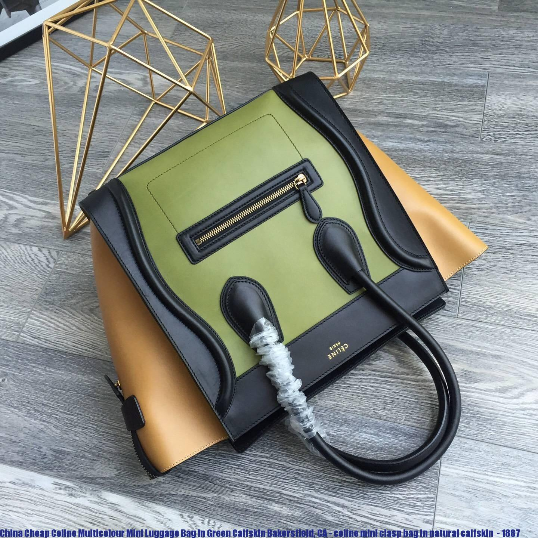 62ba3e6bc81b China Cheap Celine Multicolour Mini Luggage Bag In Green Calfskin ...