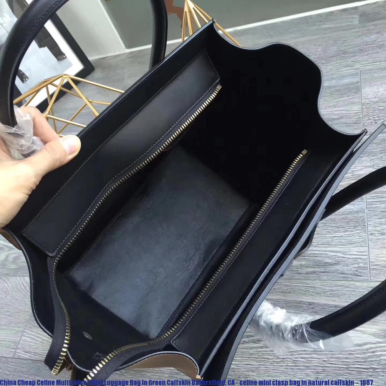 db10f1a3ae China Cheap Celine Multicolour Mini Luggage Bag In Green Calfskin ...
