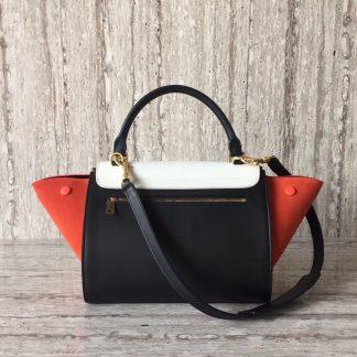 China Cheap Celine Multicolour Small Trapeze Bag In White Leather  Cincinnati 3c2717aa45ab4